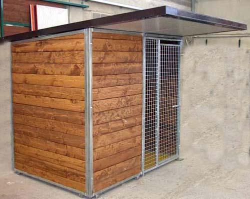 Box singolo con porta in rete metallica box cani vendita for Box per cani da esterno usati